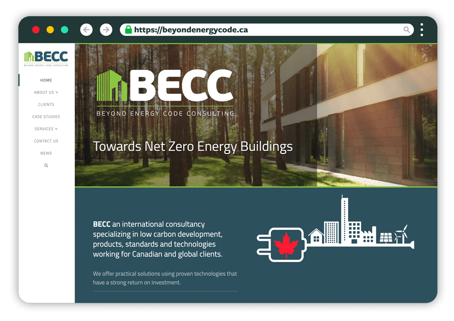 BECC Website Screenshot