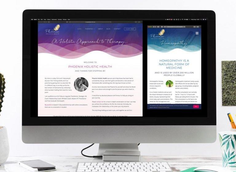 Phoenix Holistic Health website