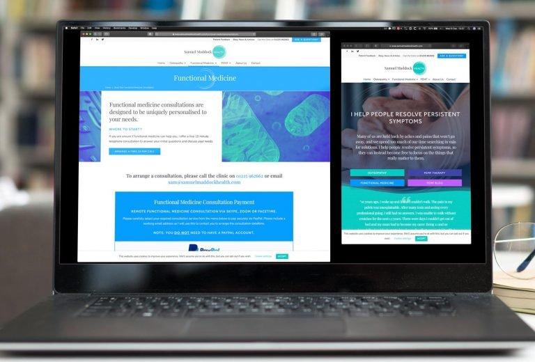 Samuel Maddock Health website